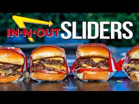 IN-N-OUT BURGER SLIDERS  SAM THE COOKING GUY 4K