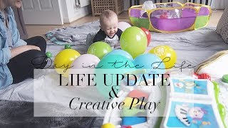VLOG | LIFE UPDATE & CREATIVE PLAY IDEAS