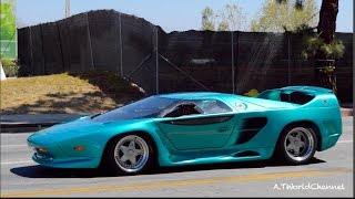 WHAT IS THIS? RARE Vector W8 Twin Turbo Engine Start Up & Acceleration Sound