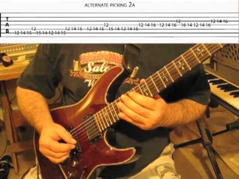 Learning to Shred Lesson #2 - Alternate Picking Exercise - Edward Andrew