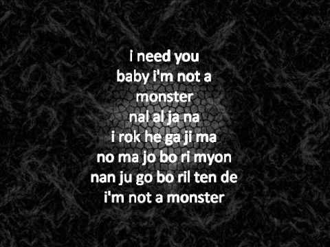 Big Bang - Monster Easy Lyrics video
