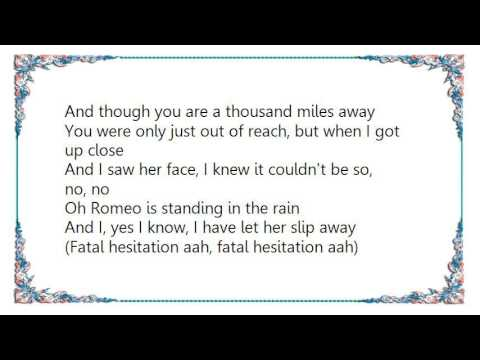 Chris de Burgh - Fatal Hesitation Lyrics