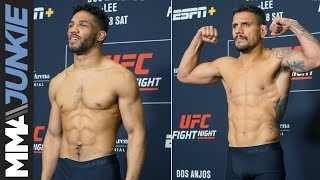 UFC on ESPN+ 10 official weigh ins: Rafael dos Anjos, Kevin Lee hit marks