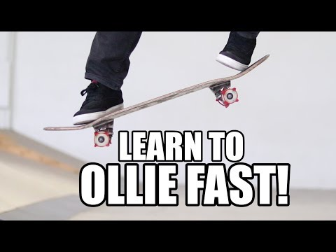HOW TO OLLIE FAST WITH SKATER TRAINERS