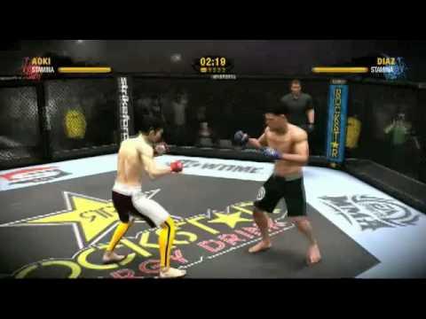 EA SPORTS MMA Quick Clip #8: Aoki vs. Diaz Full Gameplay Video