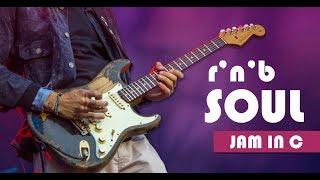 Soul/RnB Slow Guitar Backing Track Jam in C major