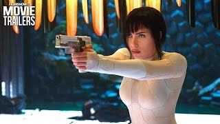 GHOST IN THE SHELL | ALL Clips and Trailers for the anime remake starring Scarlett Johnsson