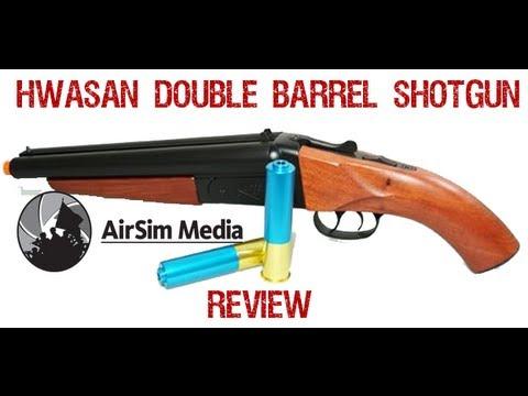 AirSim Airsoft Gun Review Hwasan double barrel mad max shotgun