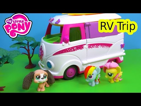 MLP Fash'ems Rainbow Dash Fluttershy Shopkins ROAD TRIP RV Camper My Little Pony Video Series Part 5