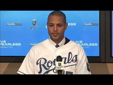 Royals introduce Rios with full news conference