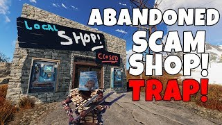 RUST | BAITING PEOPLE into an ABANDONED SCAM SHOP TRAP BASE!
