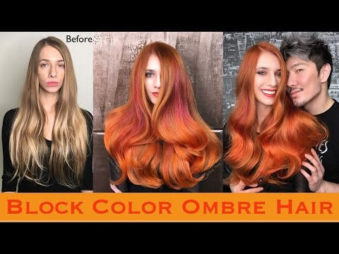 Block Color Ombre Hair