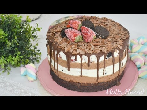 Receita de Torta brownie com mousse de chocolate oreo - Mallu Hessel thumbnail