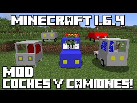 Minecraft 1.6.4 MOD COCHES Y CAMIONES!