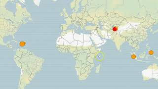 Earthquake Update- Strong Quake Strikes Caribbean Region, West Coast and Global Activity