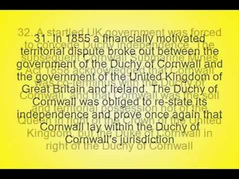 50 interesting facts about the Cornish and the Constitutional Status of Cornwall (Kernow)