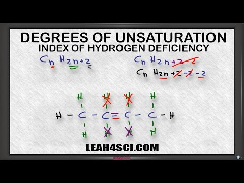 Degree of Unsaturation aka Index of Hydrogen Deficiency