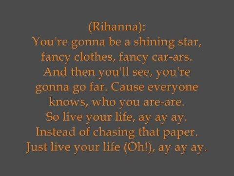 T.i. Feat. Rihanna - Live Your Life (hq   Lyrics) video