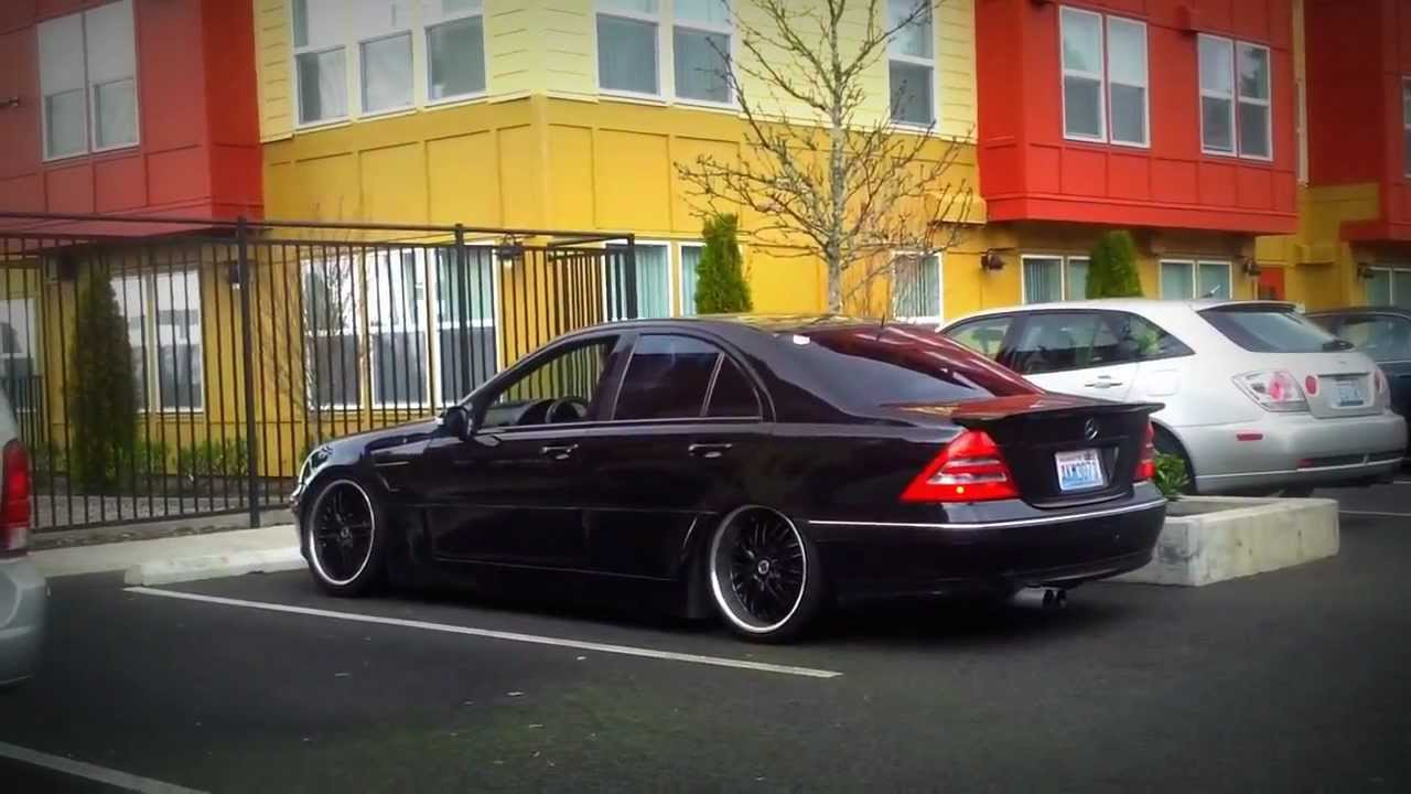 Mercedes C320 On Bags Youtube