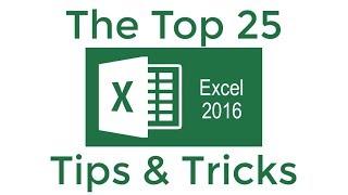 Top 25 Excel 2016 Tips en trucs