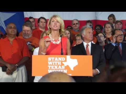 Rally speech from Texas State Senator Wendy Davis
