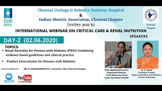 International webinar on Critical Care and Renal Nutrition Day 02 - 02-06-2020