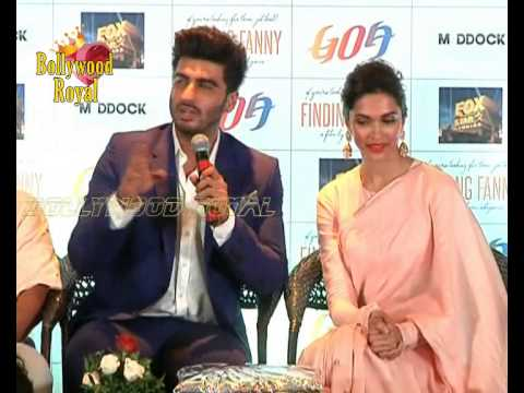 Deepika Padukone & Arjun Kapoor at PC of Goa Tourism for 'Finding Fanny' Part 1