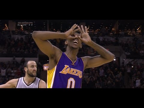 Nick Young game-winner three-pointer over Manu Ginobili in overtime: Lakers at Spurs