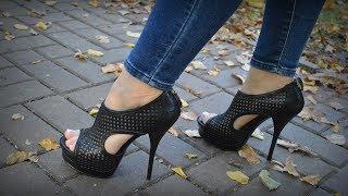 peep toe platform ankle boots