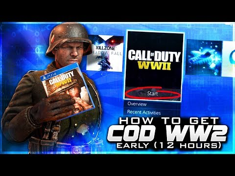 GETTING CALL OF DUTY WW2 EARLY ON PS4/XB1! Unlock Access To COD WWII Early Digitally! (COD WW2)