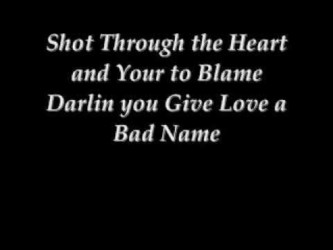 You Give Love a Bad name, Bon Jovi Lyrics