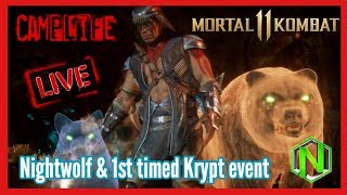 Nightwolf & 1st timed Krypt event | MK11