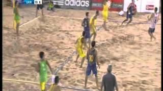 Brasil - Ucrania (Final). Mundial Balonmano Playa (Beach Handball) Omán 2012