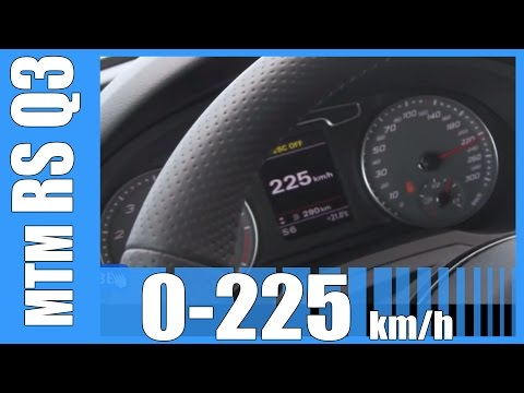 Audi RS Q3 MTM 424 HP 0-225 km/h FAST! Launch Control Acceleration