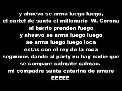 Cartel de santa, W.Corona Y Millonario - Extasis (Letra) - YouTube