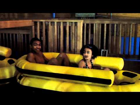 Castaway Bay: Miss Lori's Kids brave the Rendezvous Run at Castaway Bay Waterpark video