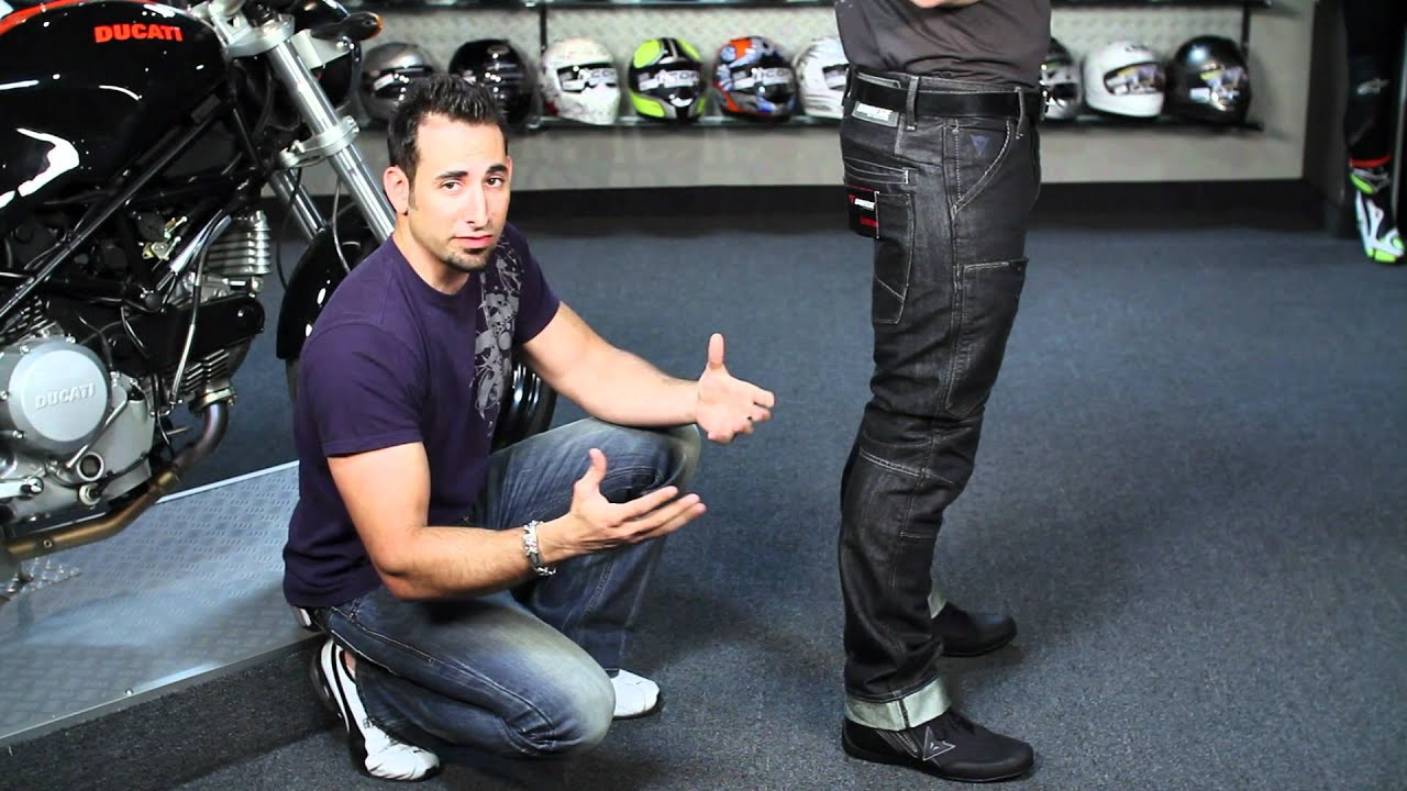 Motorcycle Riding Pants >> Dainese D1 Jeans Review at RevZilla.com - YouTube