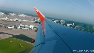 easyJet Airbus A320 Sharklets G-EZWJ - Manchester to Amsterdam Schiphol *Full Flight*