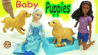 Barbie Doll Dog Has Color Changing Newborn Baby Puppies Inside Belly + Surprise Blind Bags