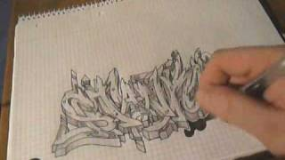 "Graffiti Sketch Drawing 16 - ""STANKI"" (requested)"