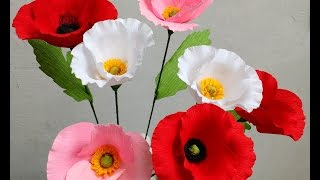 How to make Paper Flowers Poppy (Flower # 80)