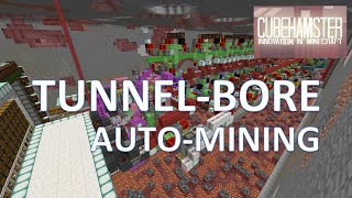 Minecraft: Automatic Tunnel Bore Machine - Auto Mining [No Mods/ No Command Blocks]