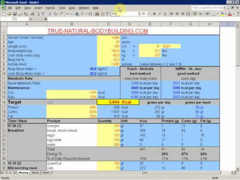 how to create a meal plan for bodybuilding