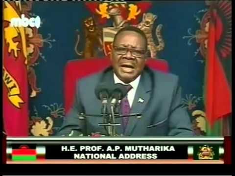 Malawi President Peter Mutharika Address to the Nation on Flood Disaster - 27 January 2015