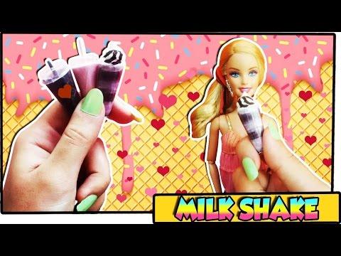 Como fazer: Milk Shake para bonecas Barbie. Monster High. Ever A.H. entre outras! 🍧