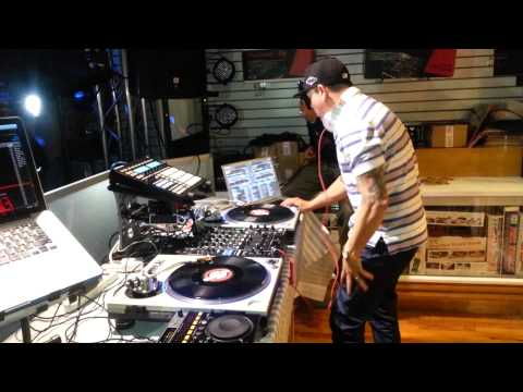 DJ Scribble Performing An Old School Set at Mainline Pro Lighting,Sound & Video Queens,NY Part1