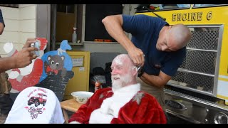 Santa Goes Bald for #TeamTrucker