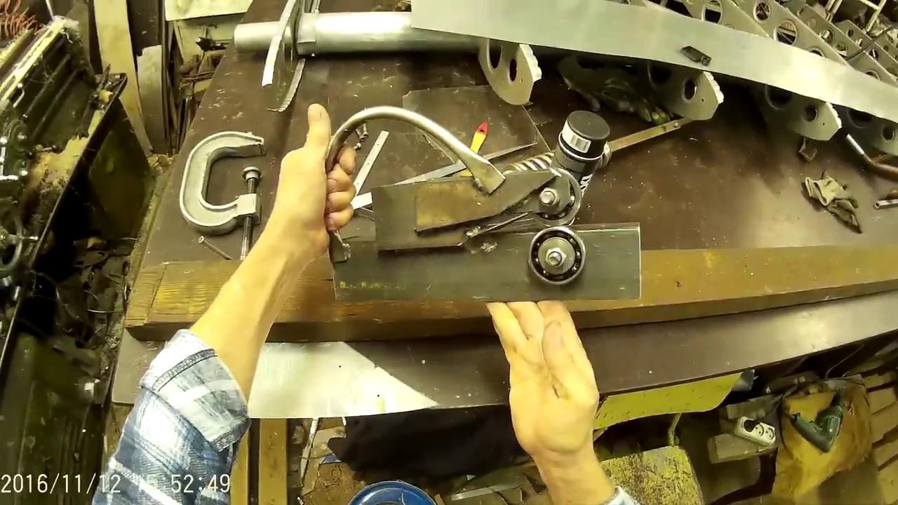 Роликовый нож из подшипников своими руками 51