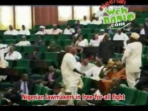 Nigerian Lawmakers in free-for-all fight