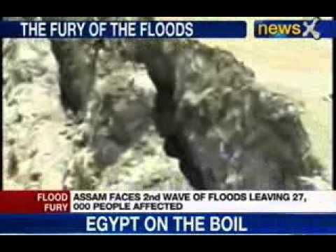 NewsX: Assam flood hit, 27,000 affected